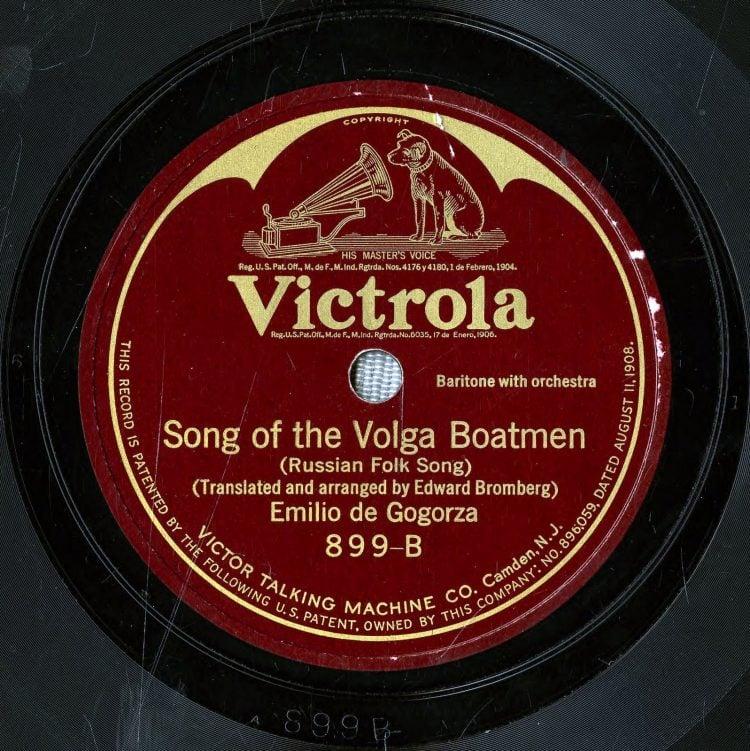 Antique Victrola record - Song of the Volga boatmen