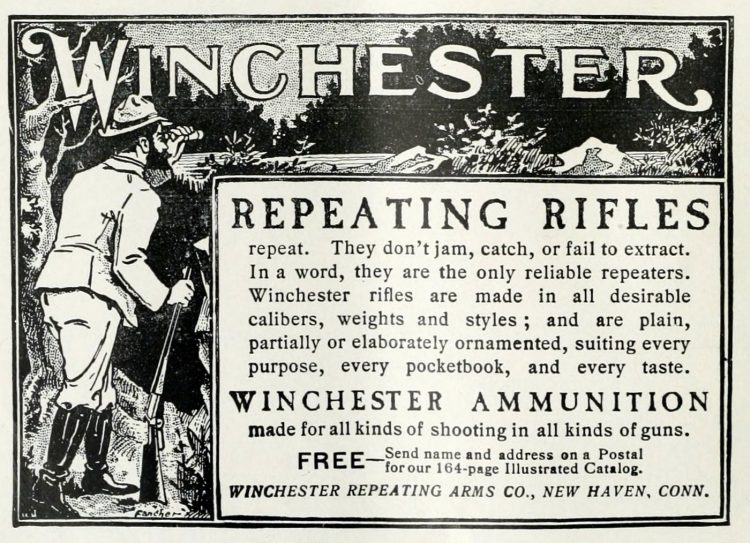 Antique Winchester Repeating rifles from 1902