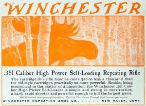 Antique Winchester rifles - Vintage ad