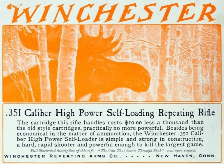 Antique Winchester rifles - Vintage ad