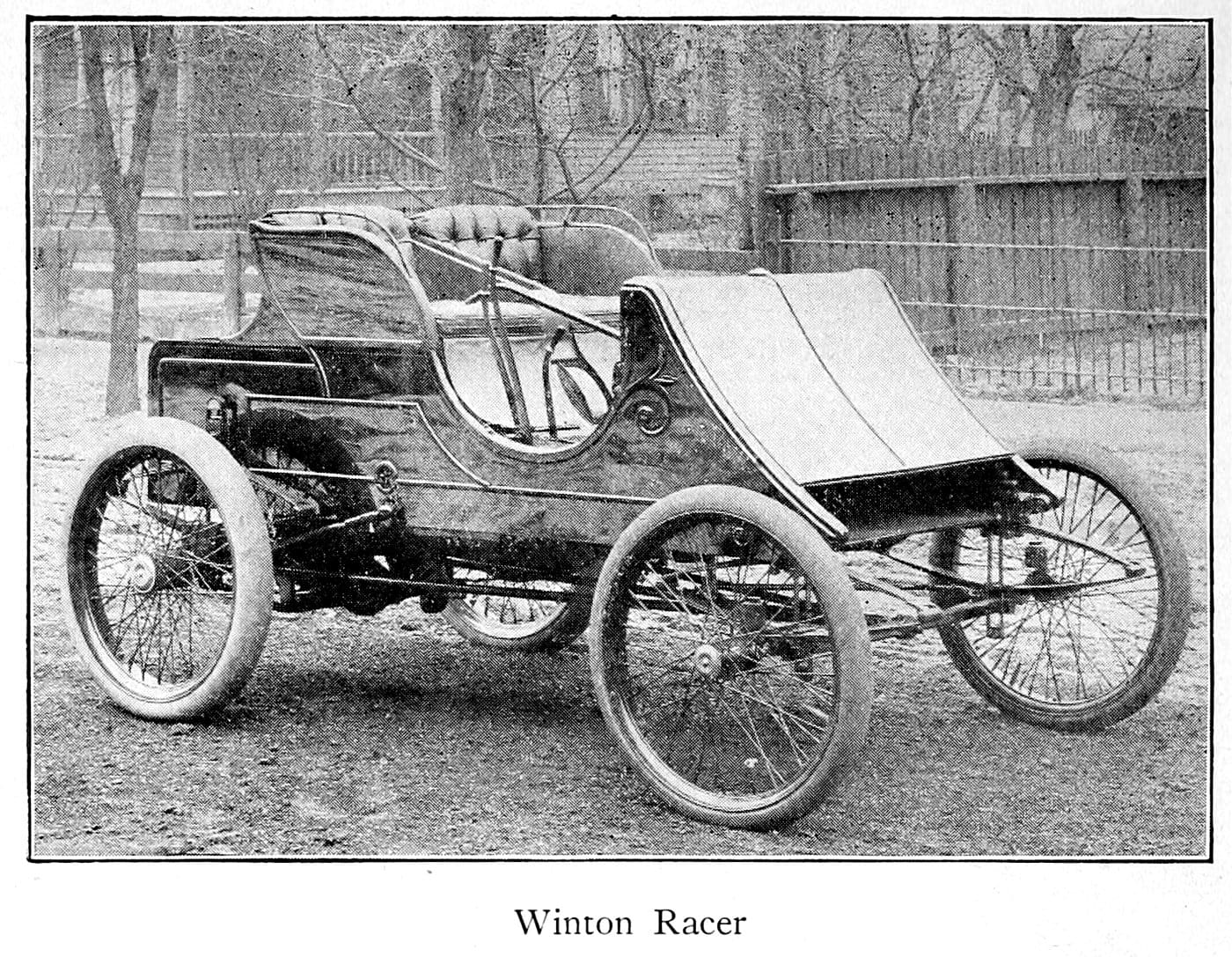 Antique Winton Racer motor car (1900)