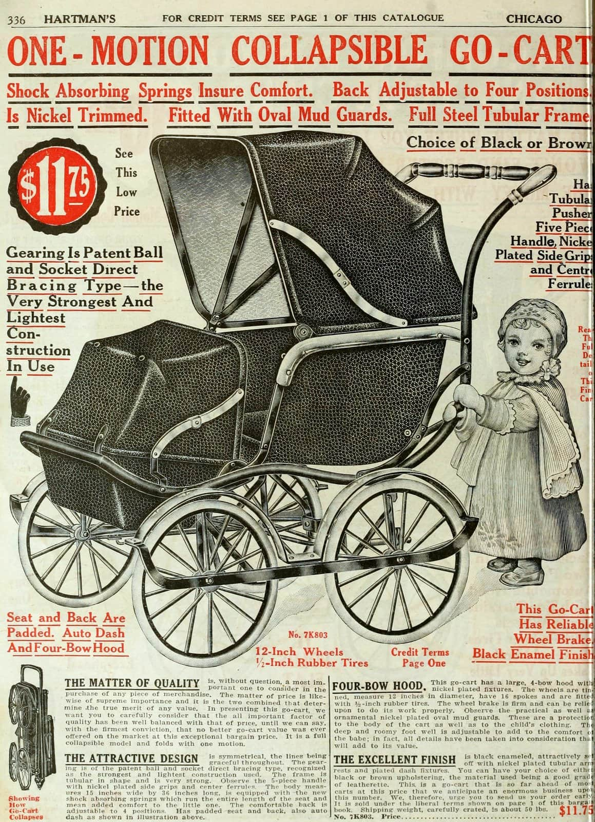 Antique baby carriage from 1916 (1)