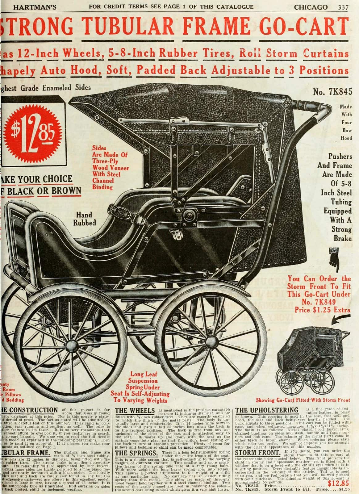 Antique baby carriage from 1916 (2)