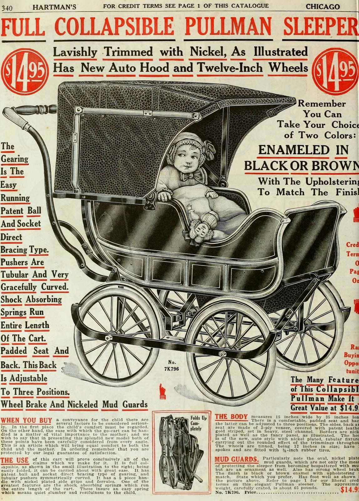 Antique baby carriage from 1916 (3)