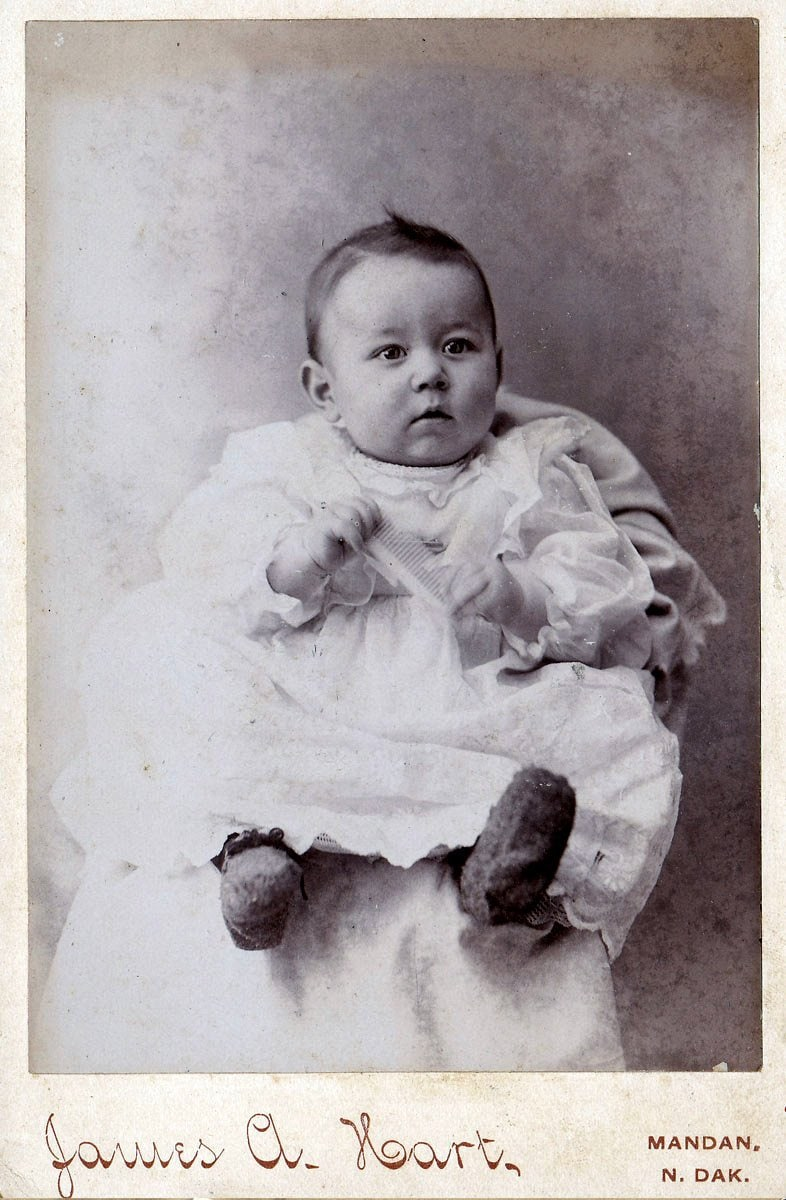 Antique baby portraits from North Dakota