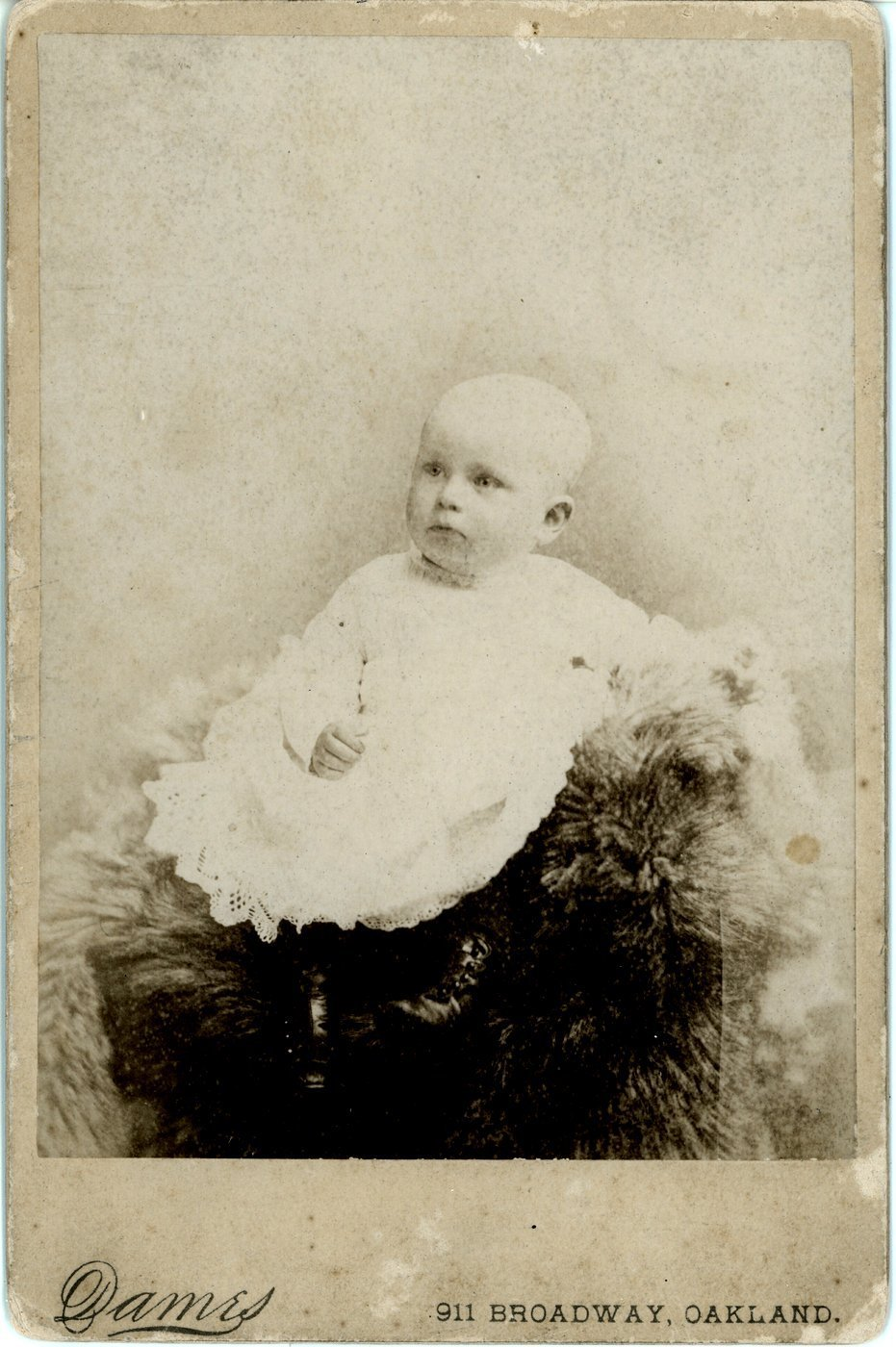 Antique baby portraits from Oakland, California