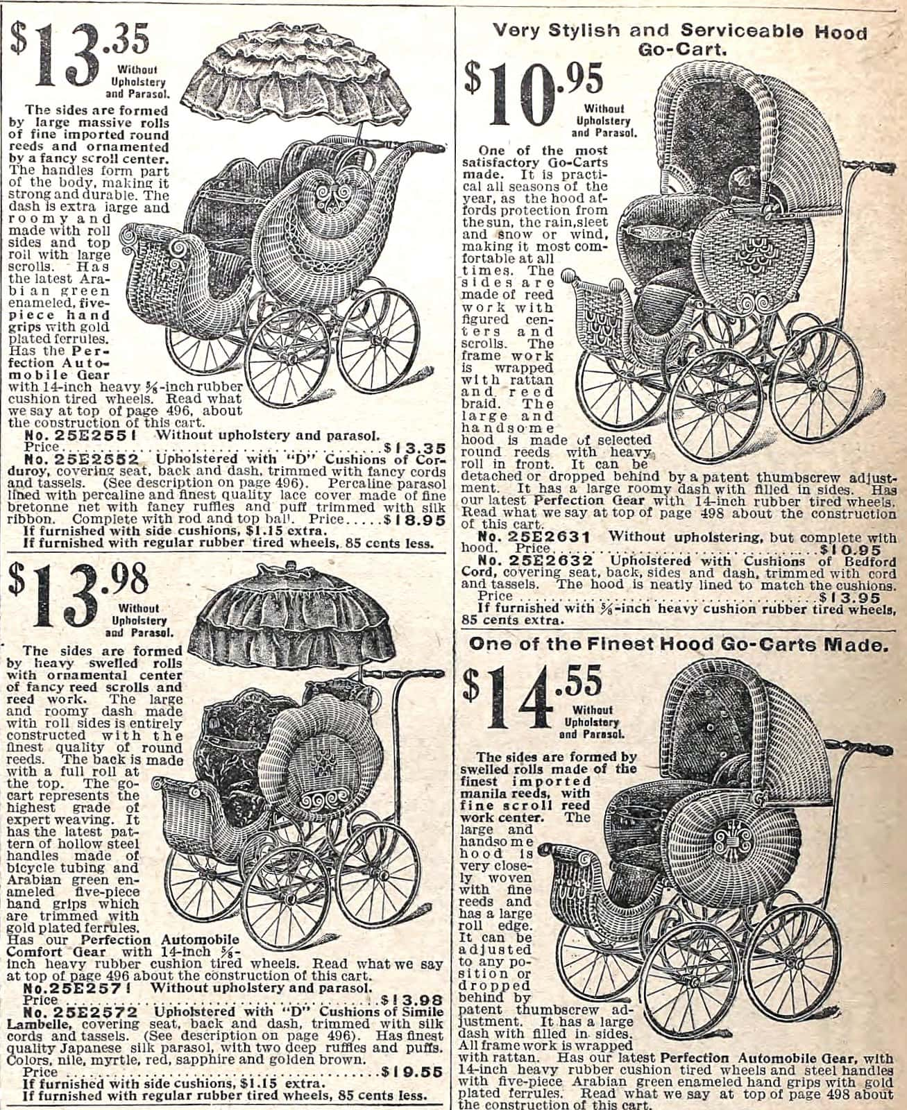 Antique baby strollers - go-carts - carriages - prams (1905)