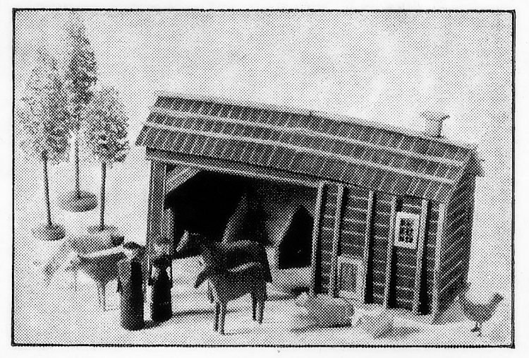 Antique barnyard scene toy made of wood