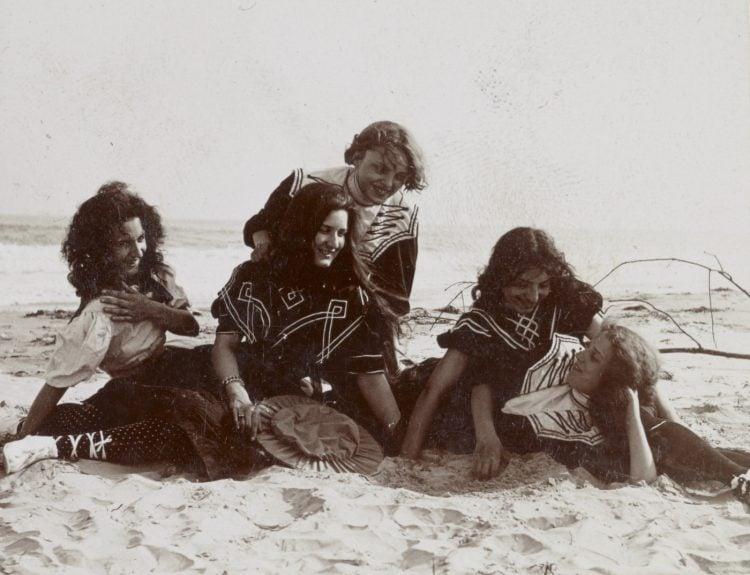 Antique beach day photo