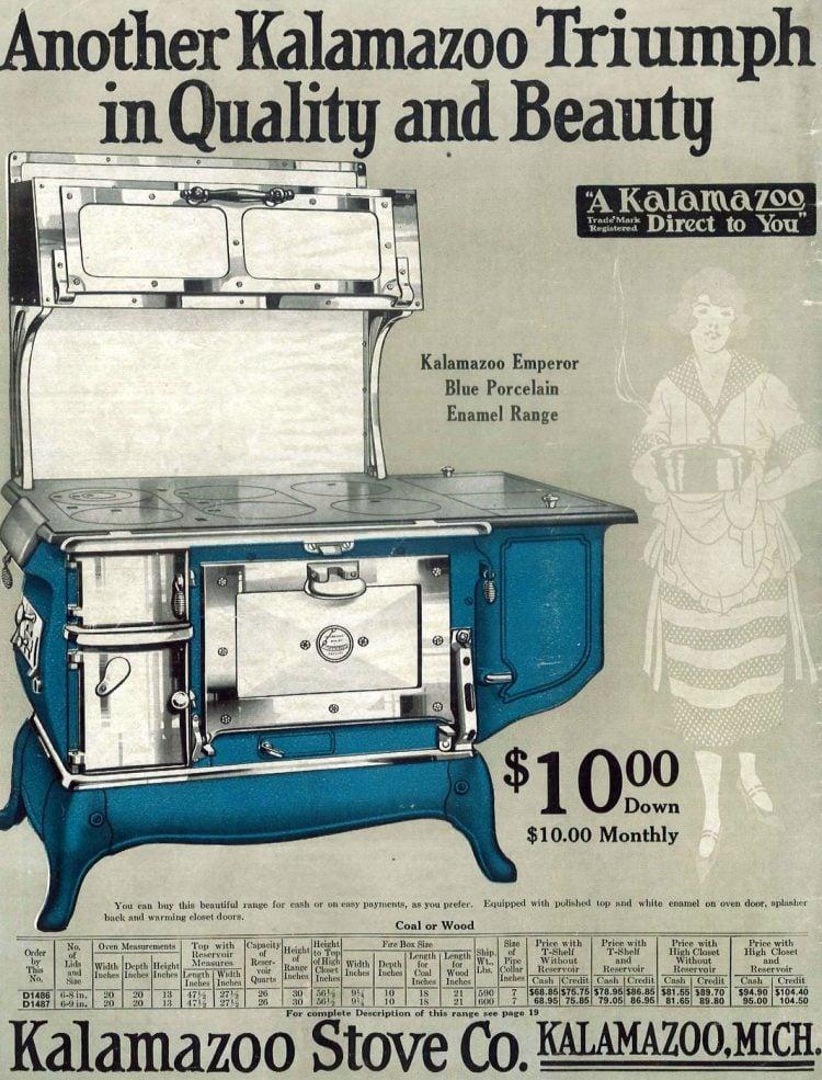 Antique blue porcelain range from 1922