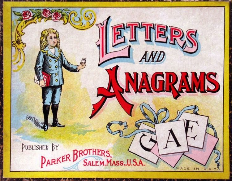 Antique board game - Letters and Anagrams from Parker Bros
