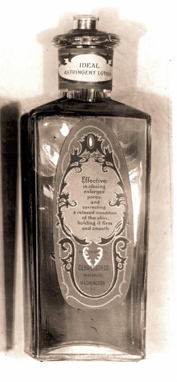 Antique bottle of CL Hamilton Ideal Astringent Lotion