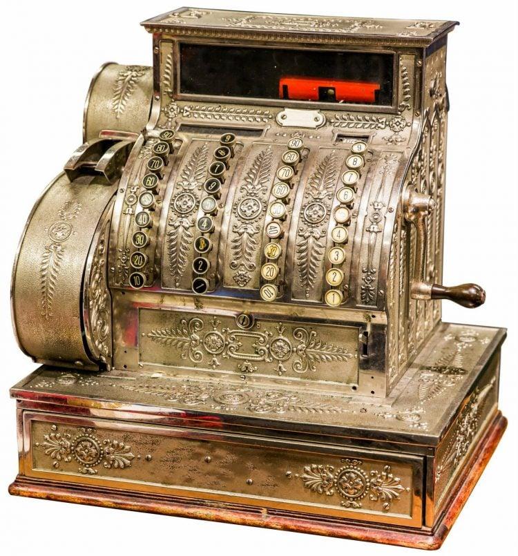 Vintage old cash register