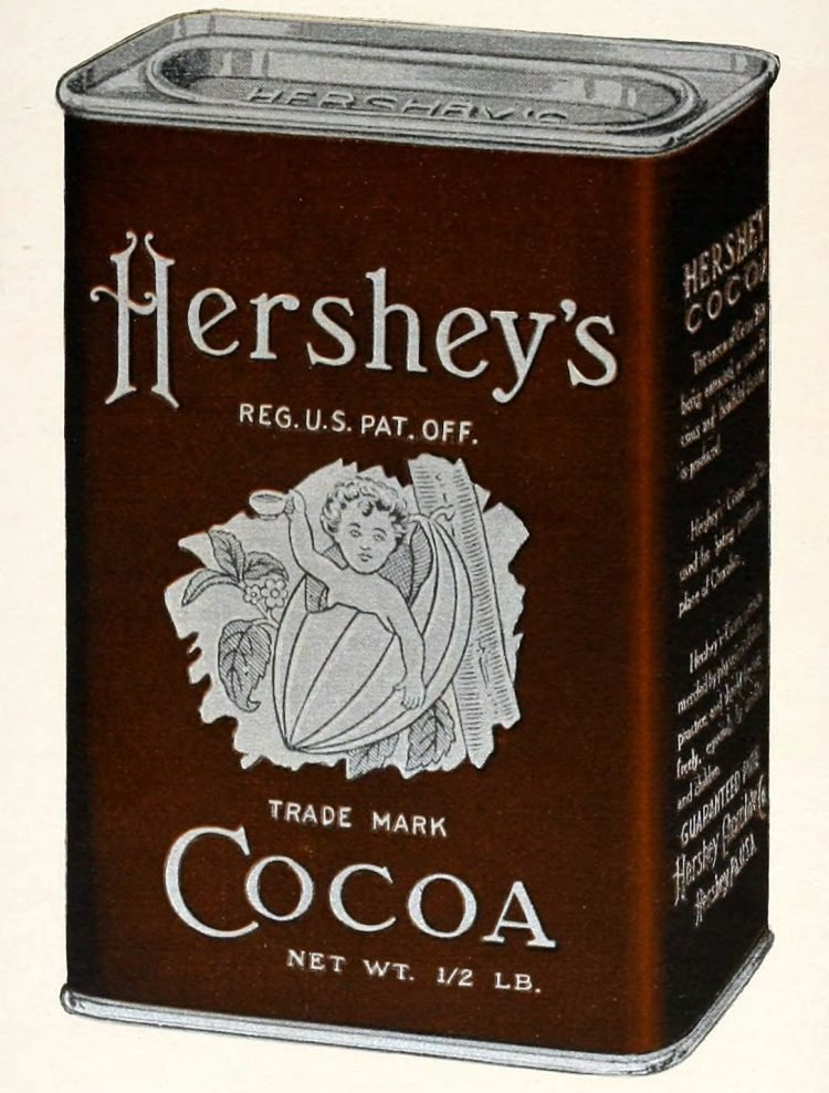 Antique canister of Hershey's Cocoa