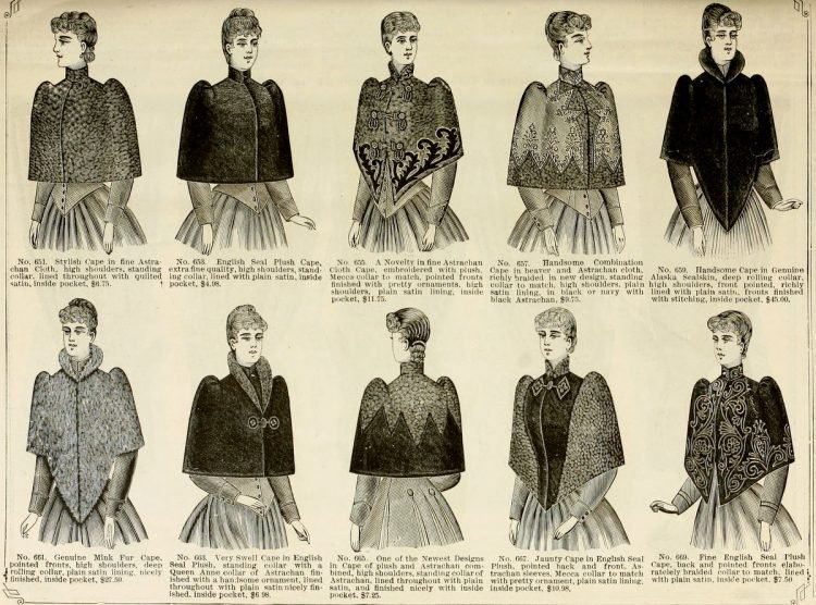 Antique capes from 1890