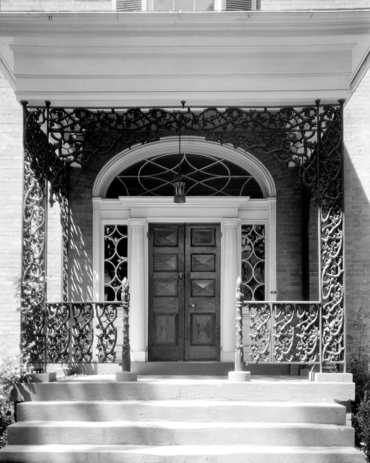 Antique cast iron porch decor at the Doswell House, Fredericksburg, Virginia (1920s)
