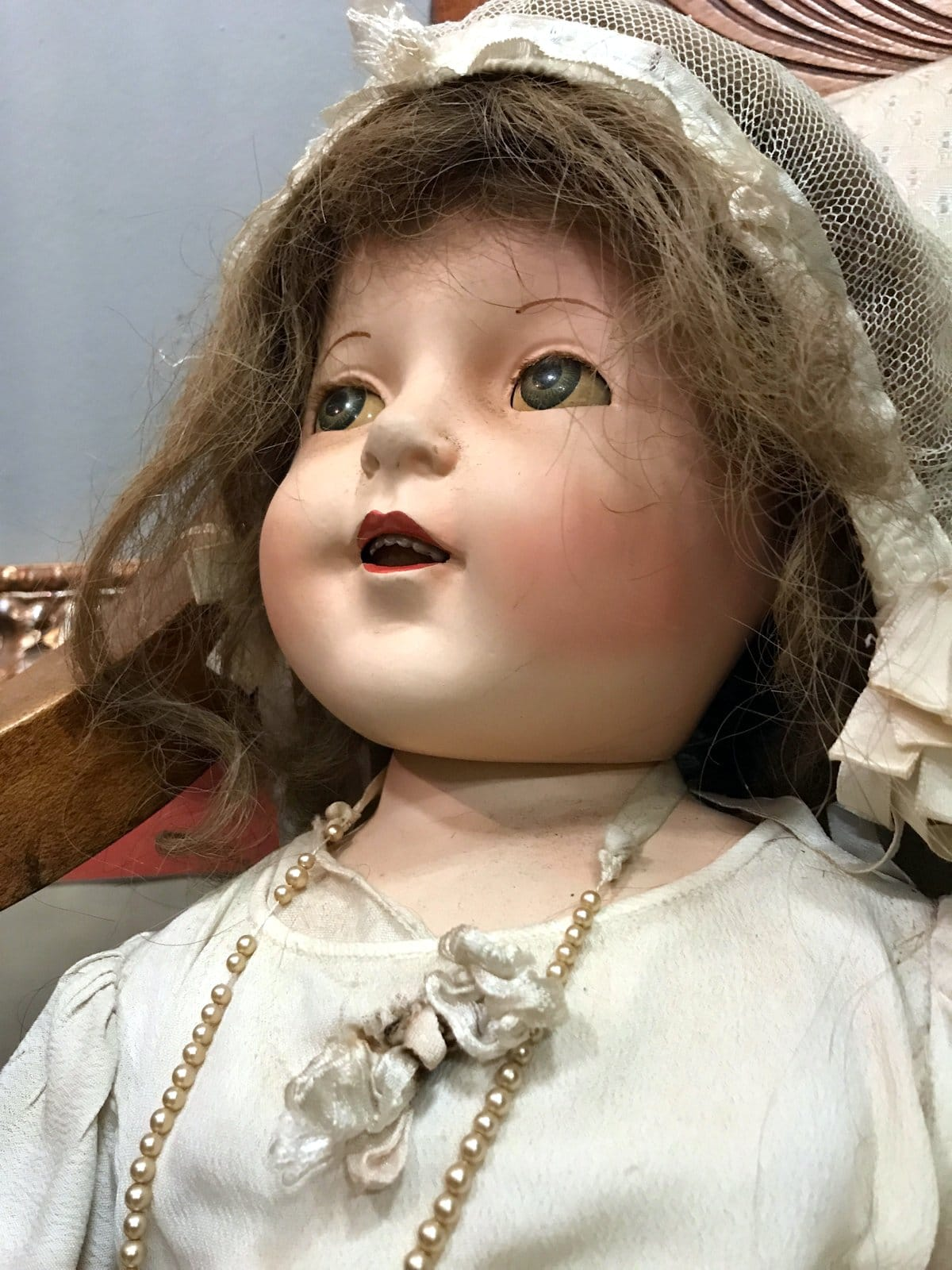 Antique ceramic baby doll