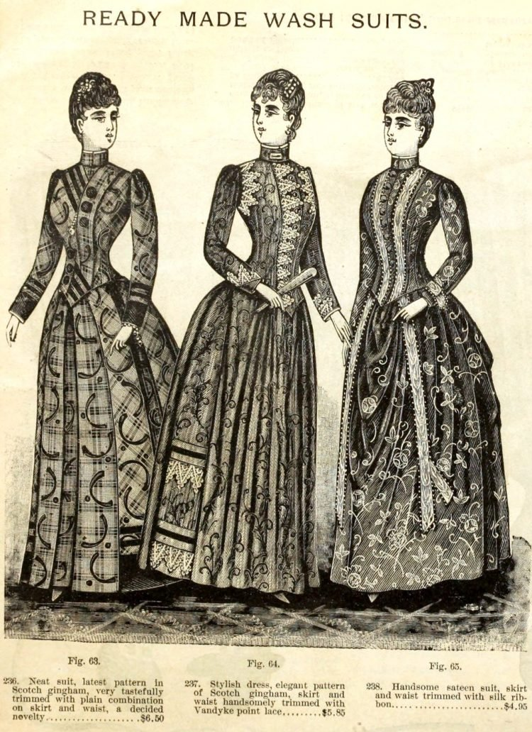 Antique clothing - Ready-made women's wash suits from 1890