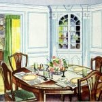 Antique dining room in vintage home (1)