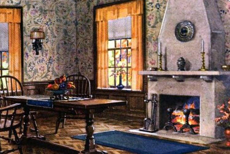 Antique dining room in vintage home (2)