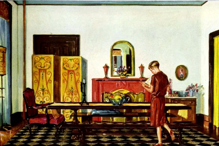 Antique dining room in vintage home (3)