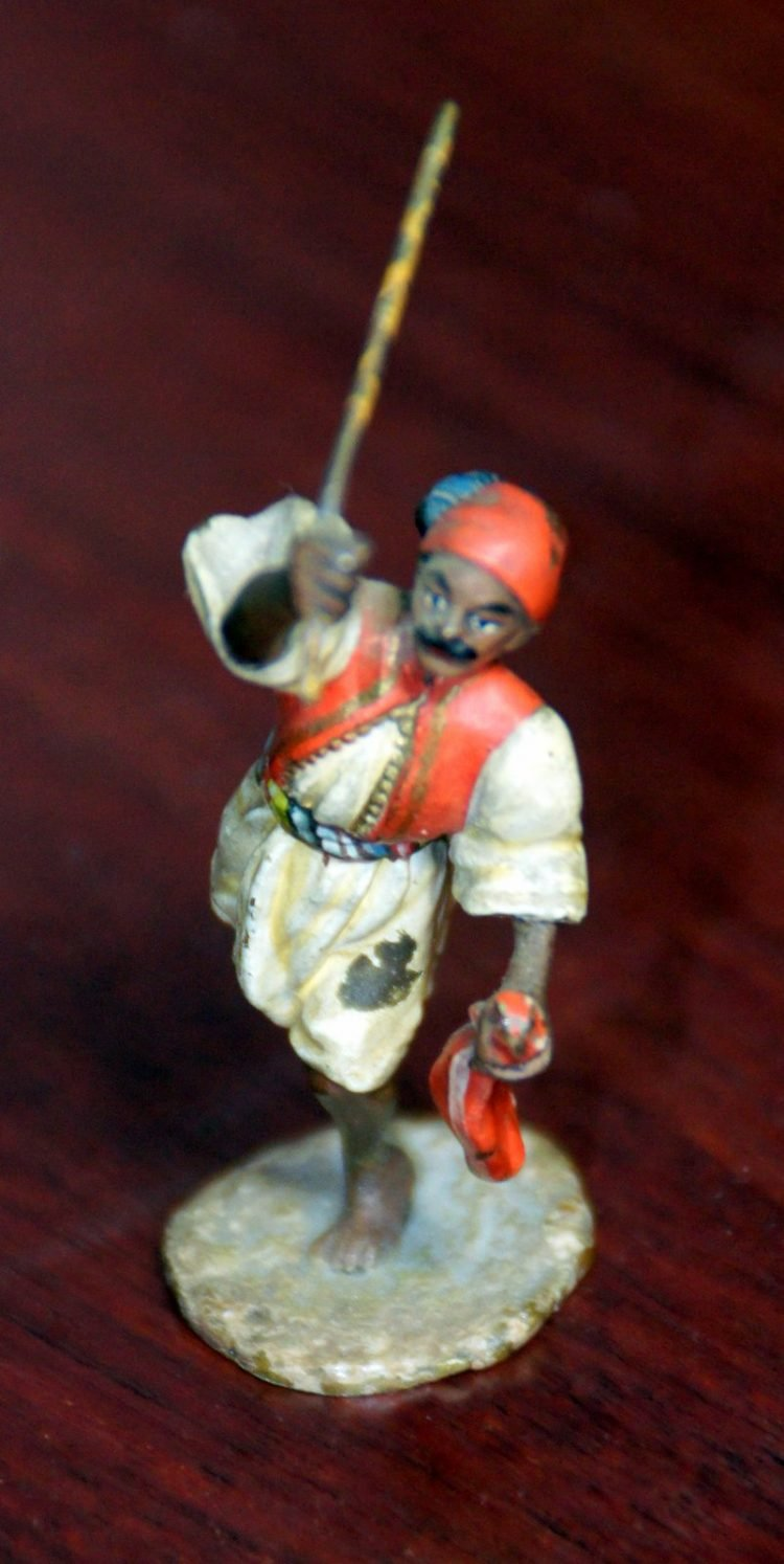 Antique soldier toy - Man with a sword figurine