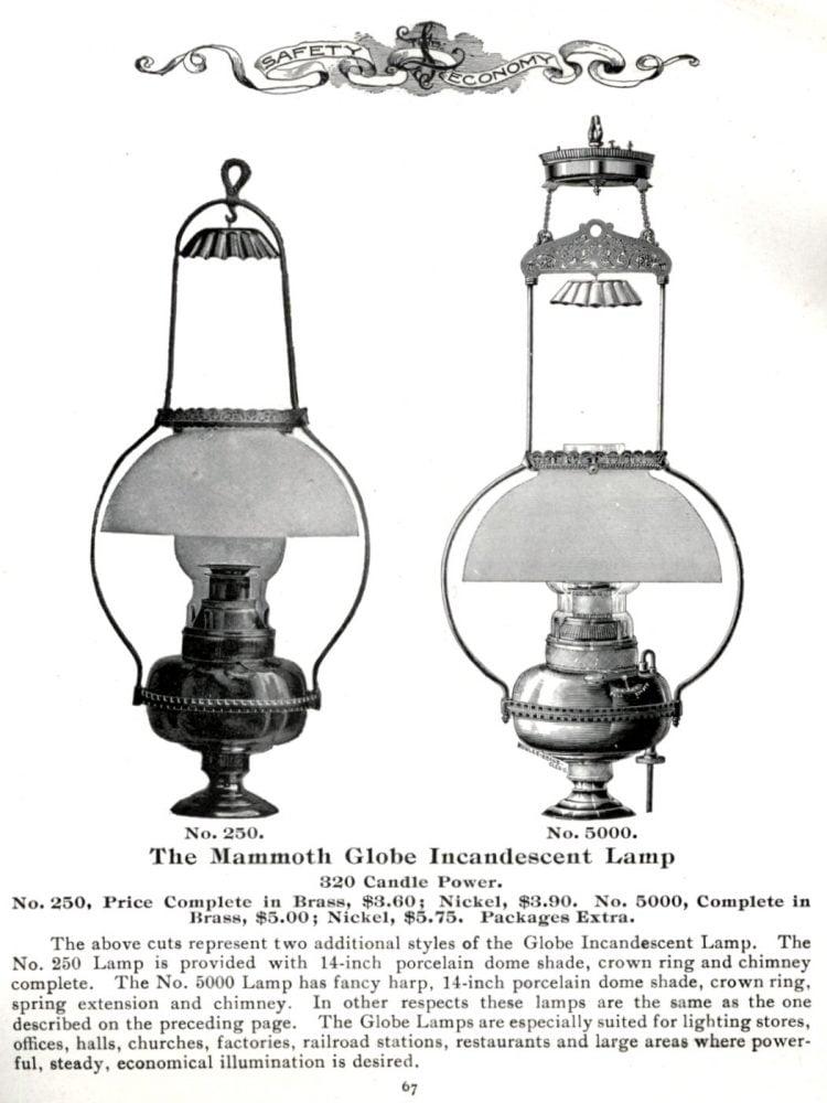 Antique gaslighting 1901