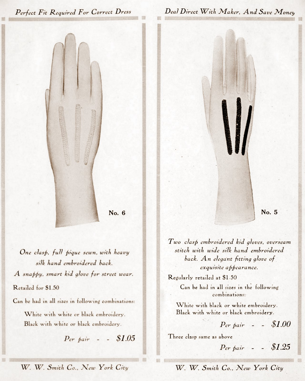 Vintage gloves - styles for women from 1912 (1)