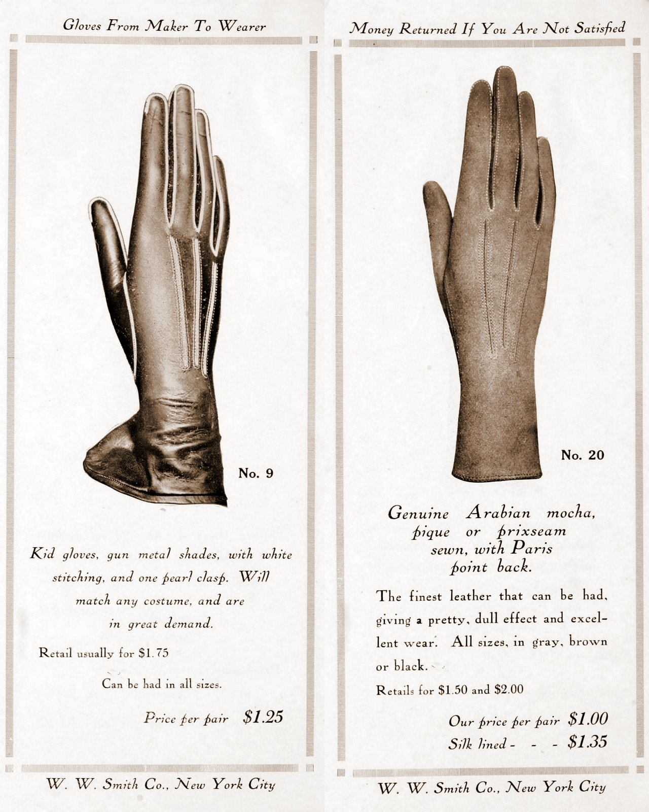Antique gloves - styles for women from 1912 (3)