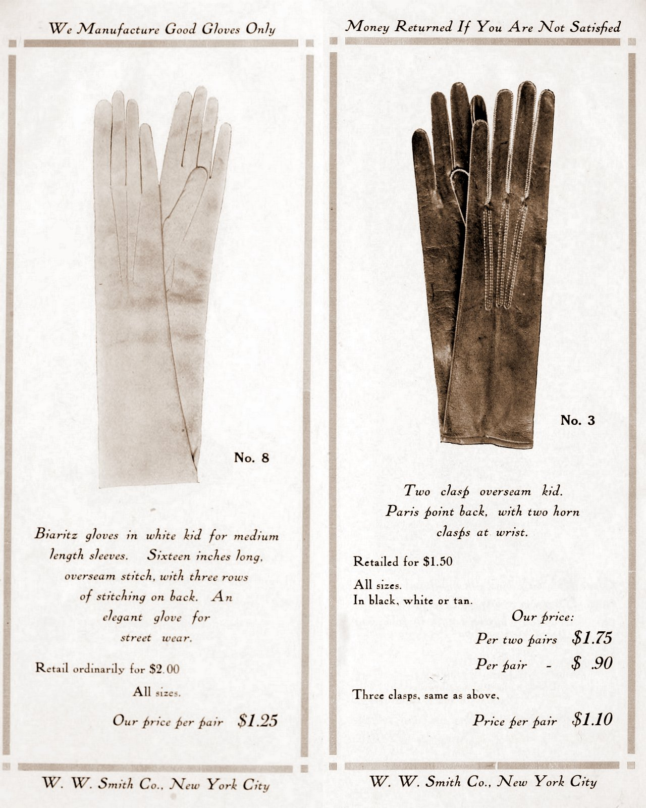 Antique gloves - styles for women from 1912 (4)