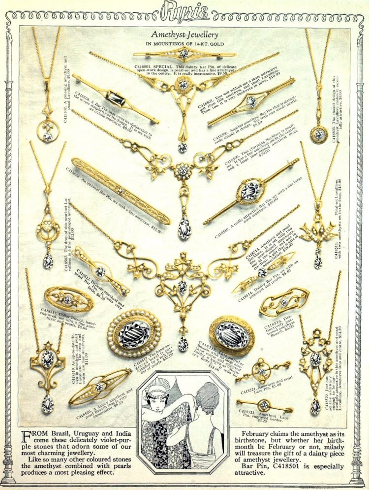 Antique jewelry designs from 1922 (1)