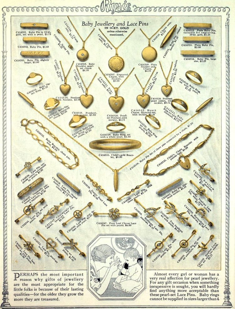 Antique jewelry designs from 1922 (10)