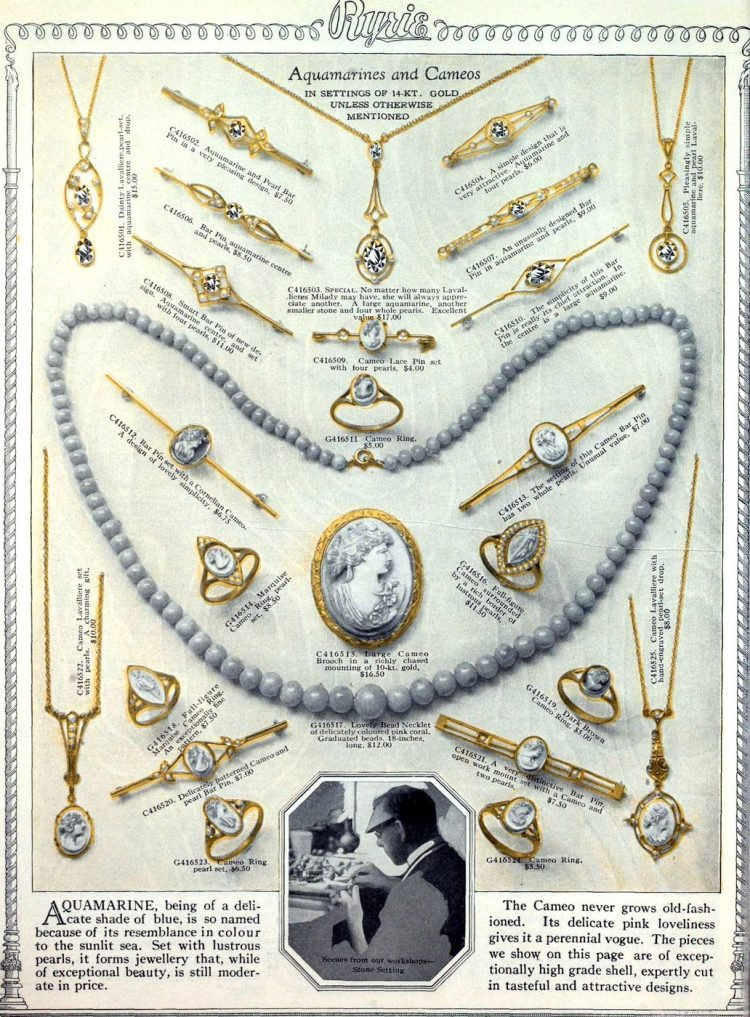 Antique jewelry designs from 1922 (11)