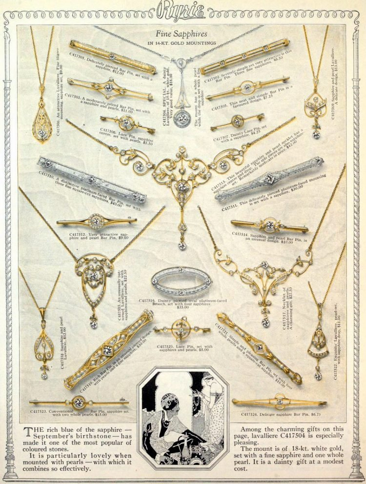 Antique jewelry designs from 1922 (12)