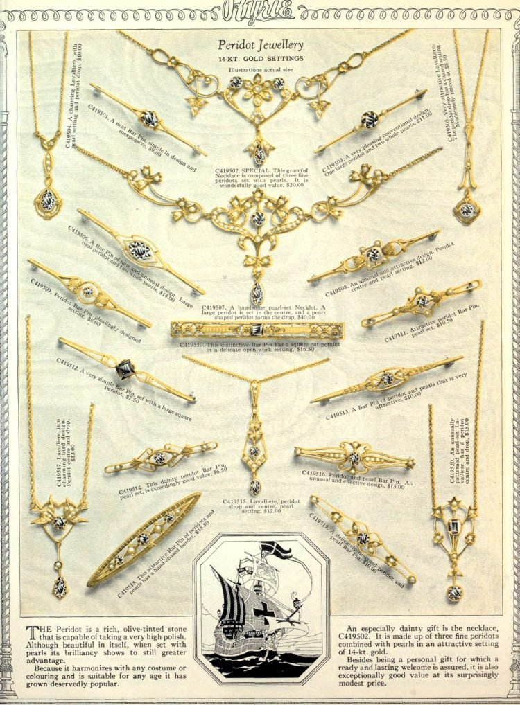 Antique jewelry designs from 1922 (2)