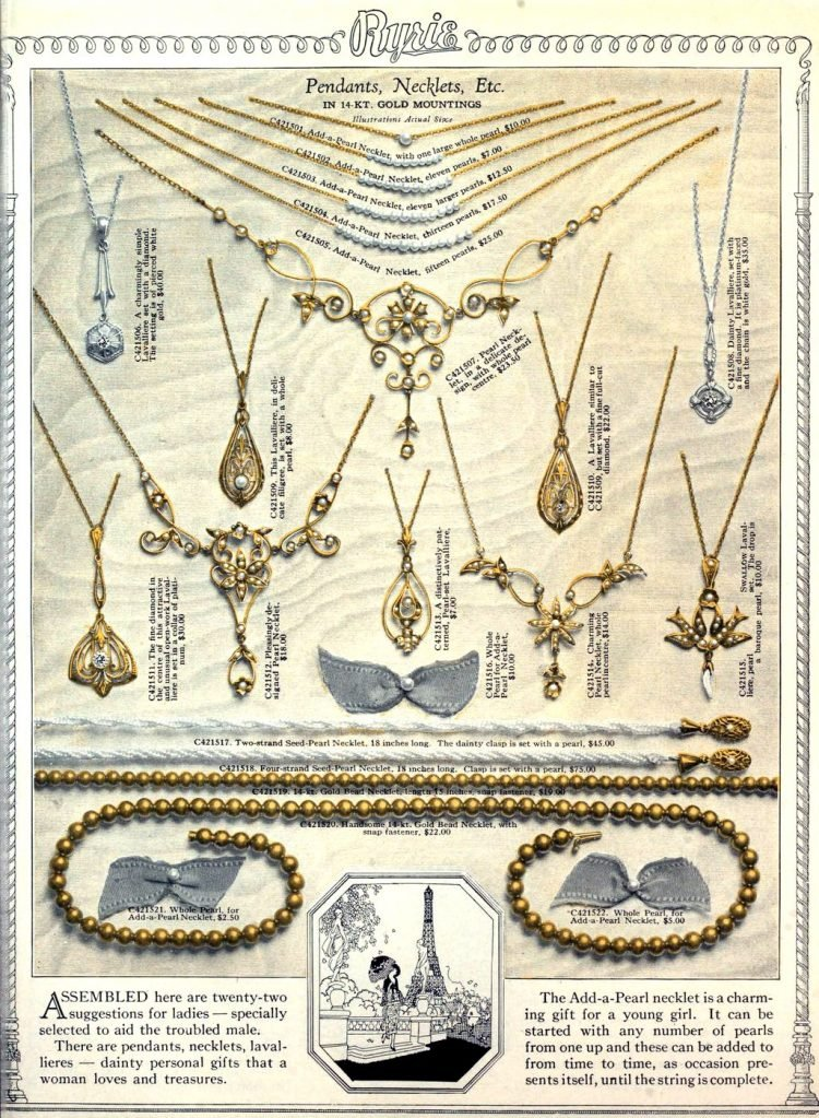 Antique jewelry designs from 1922 (4)