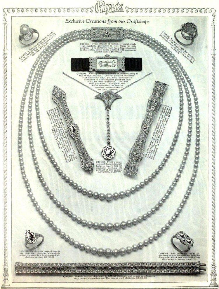 Antique jewelry designs from 1922 (6)