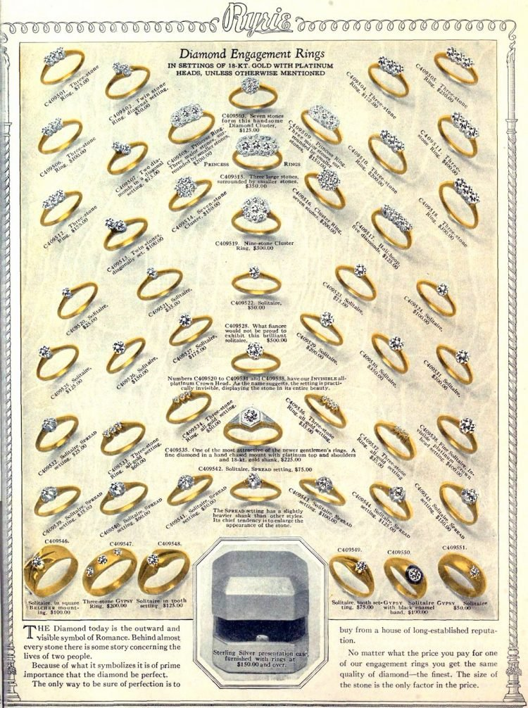 Antique jewelry designs from 1922 (7)