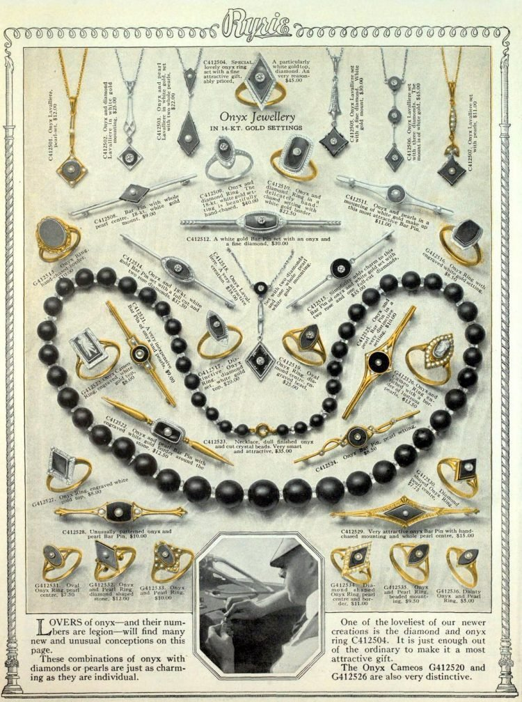 Antique jewelry designs from 1922 (8)