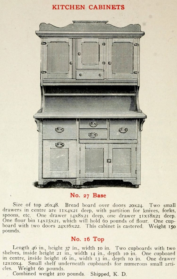 Antique kitchen cabinets from the 1900s