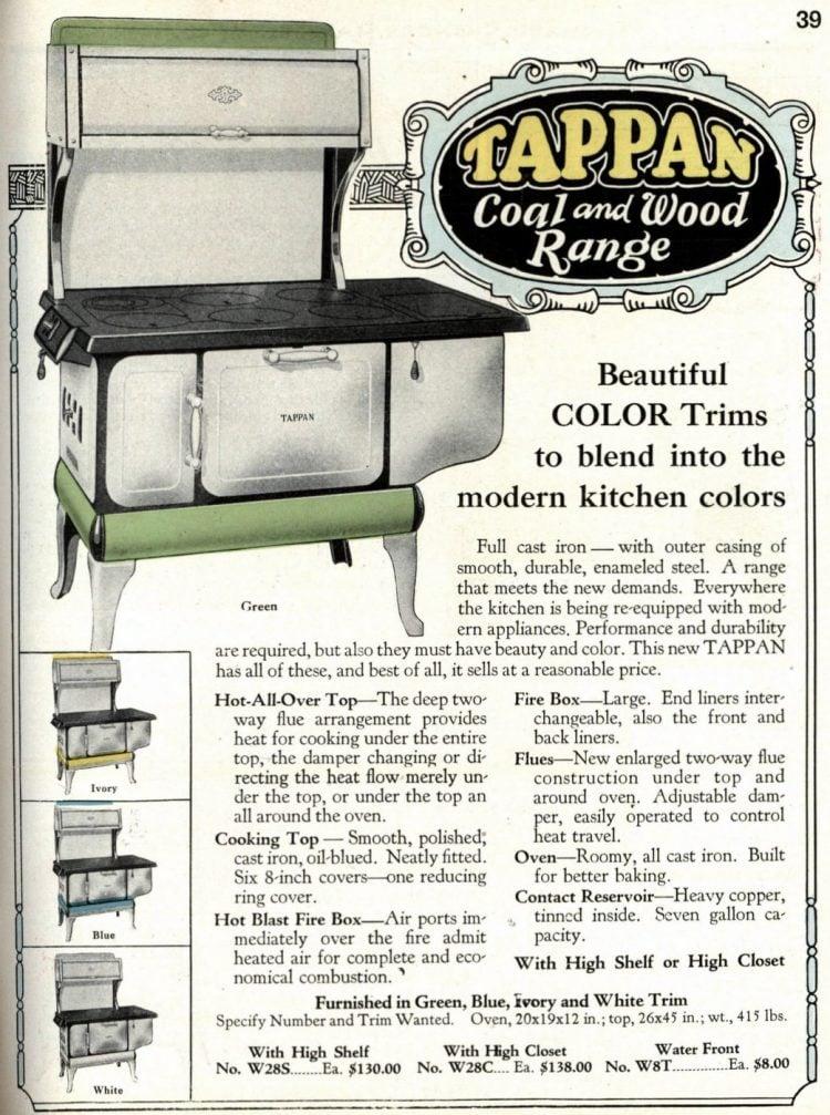 Antique kitchen range stoves from 1929 (1)