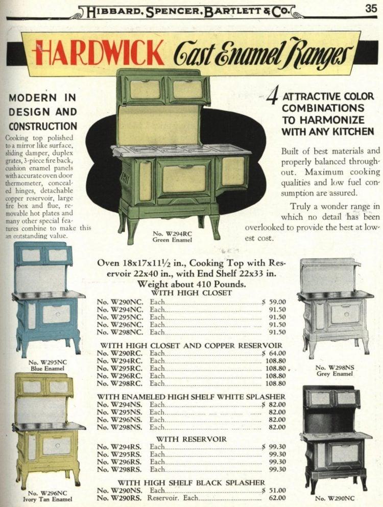 Antique kitchen range stoves from 1929 (2)