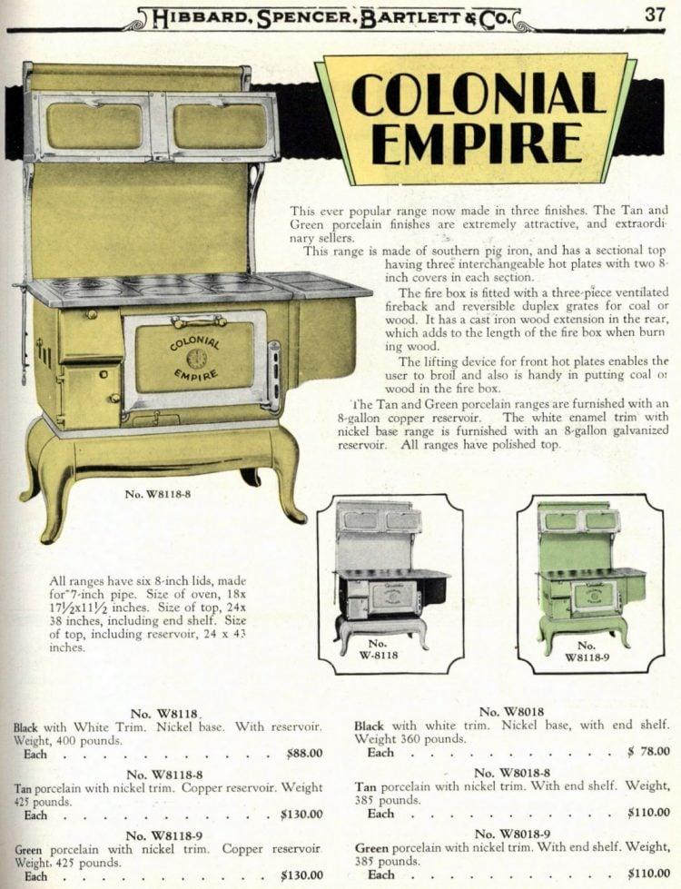 Antique kitchen range stoves from 1929 (3)