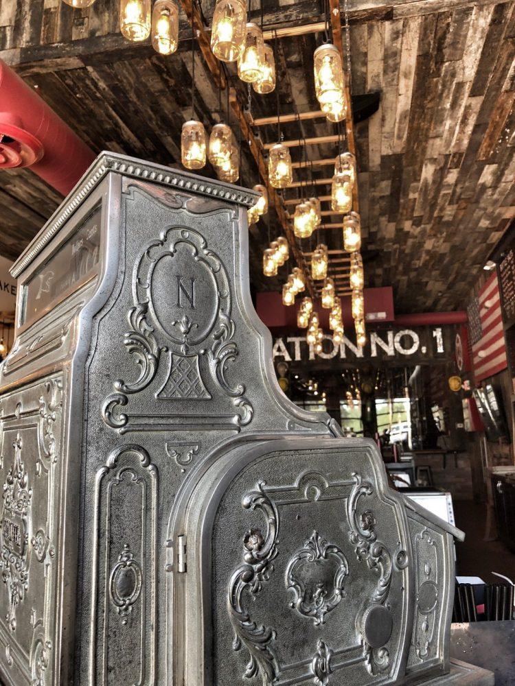 Old metal cash register