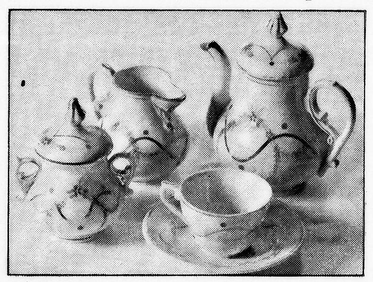 Antique mini tea set for doll house