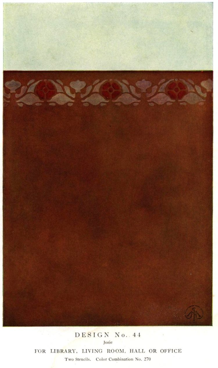 Antique painted stencil home decor from 1914 (3)