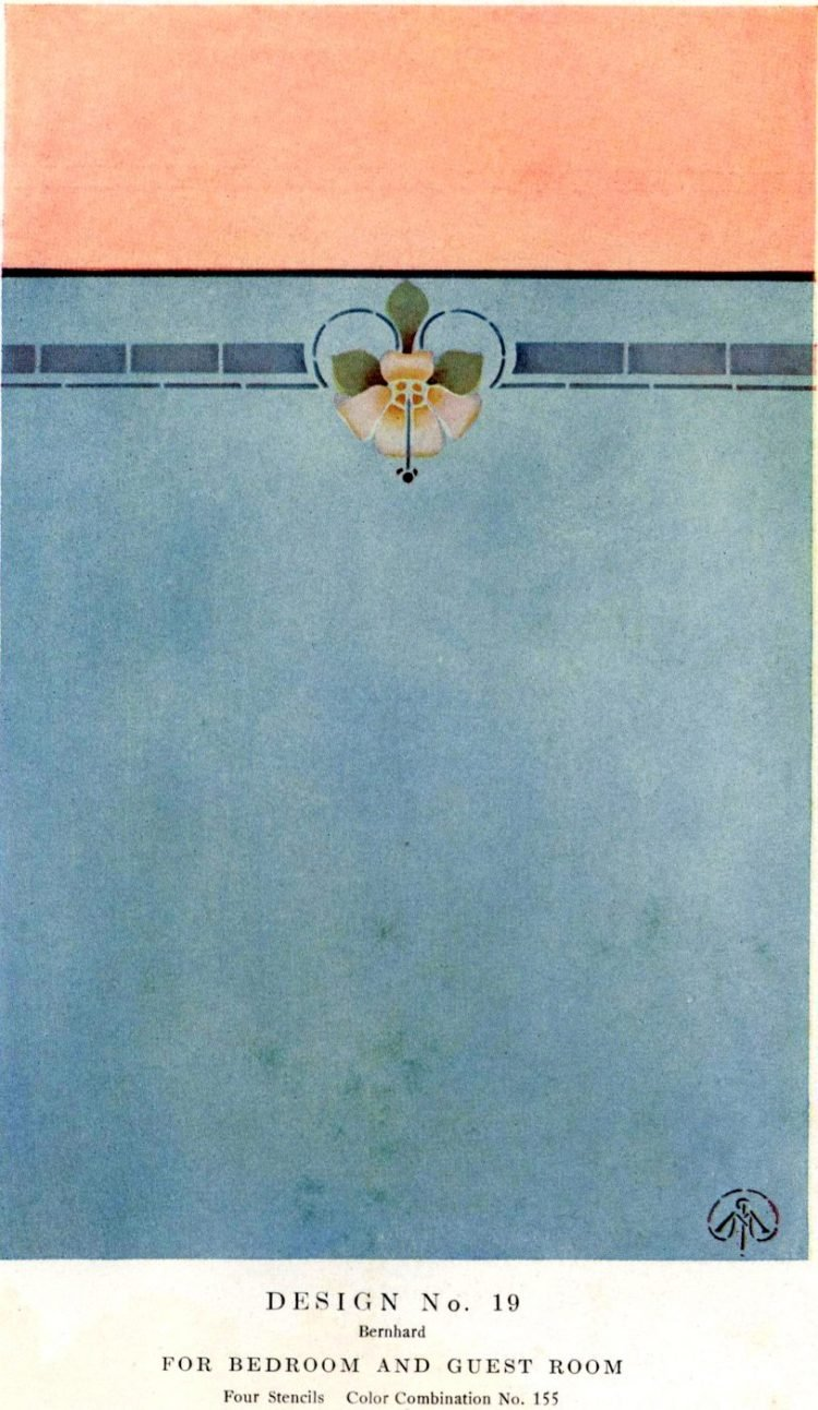 Antique painted stencil home decor from 1914 (4)