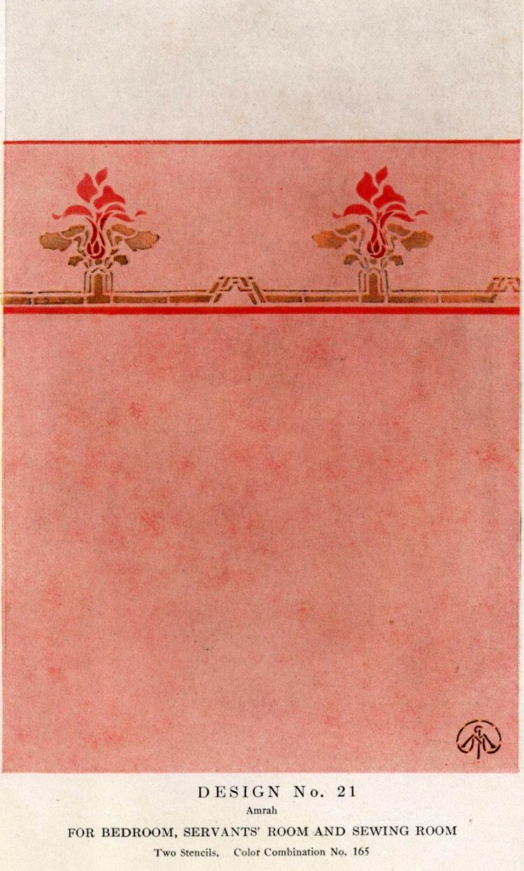 Antique painted stencil home decor from 1914 (5)