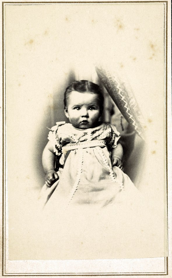 Antique portrait of a New Jersey baby c1880s