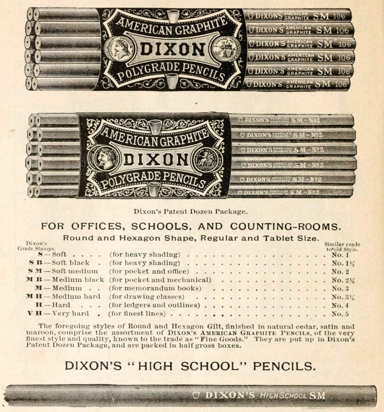 Antique school supplies - pencils (2)